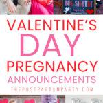 Valentine's Day pregnancy announcement pin image
