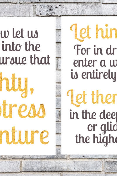 harry potter nursery printables