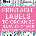 how to organize baby clothes labels