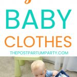 organize baby clothes pin
