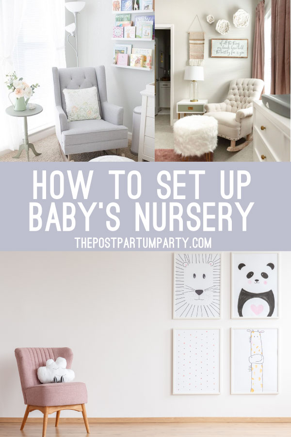 collage of baby nurseries