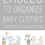 printable labels to organize baby clothes