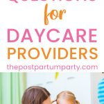 questions to ask daycare providers pin image