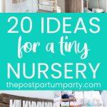 tiny nursery ideas pin image