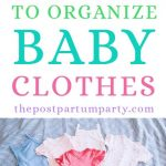 organize baby clothes pin image