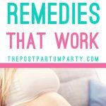 morning sickness remedies pin image