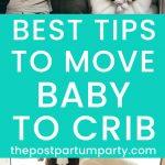 move baby to crib pin image