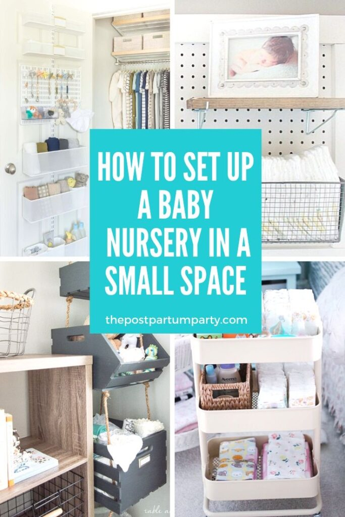 collage of ideas for small nurseries