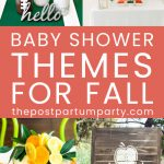 Fall baby shower themes pin image