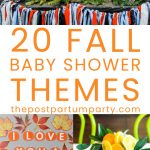 fall baby shower themes pin
