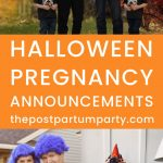 halloween pregnancy announcements pin image