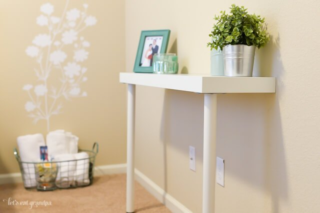 small nursery ideas - IKEA narrow table