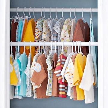 small nursery ideas - closet storage nursery