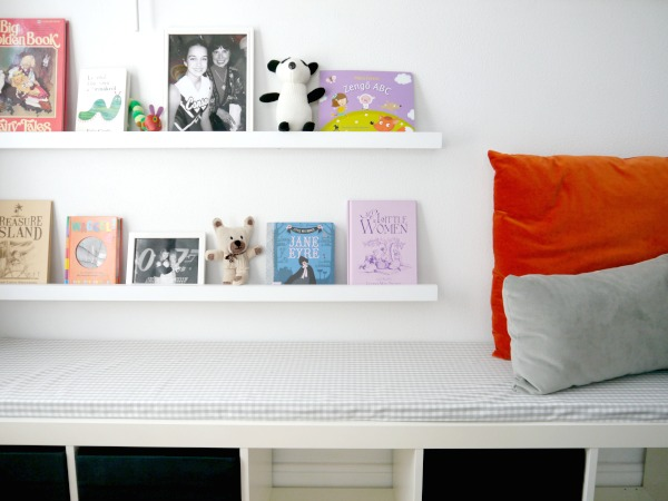 small nursery ideas - ledge shelves