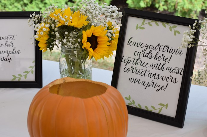 sunflower fall baby shower theme