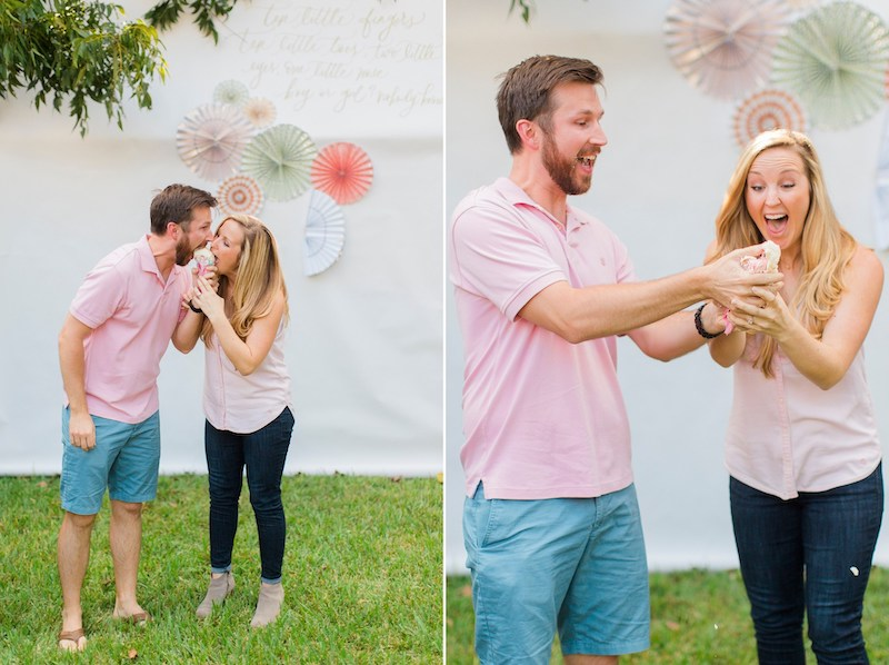 using ice cream as a gender reveal food idea