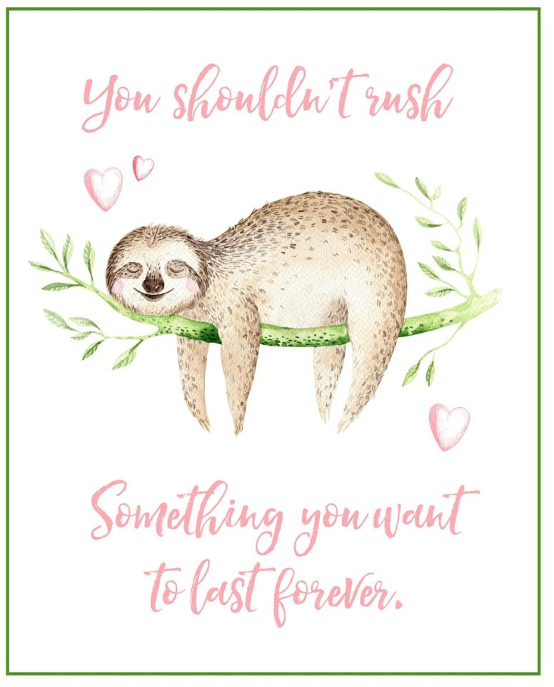 free sloth printable