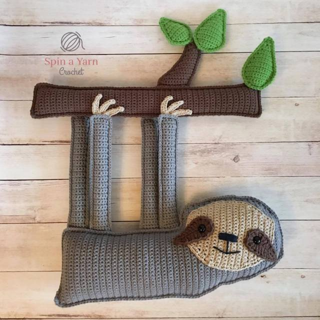 DIY crochet hanging sloth