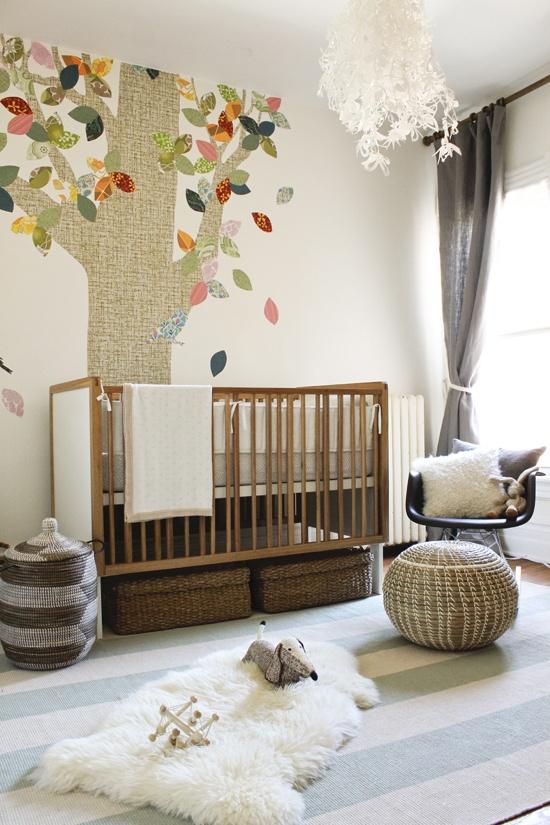 storage under crib for small nursery idea