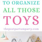 ways to organize toys