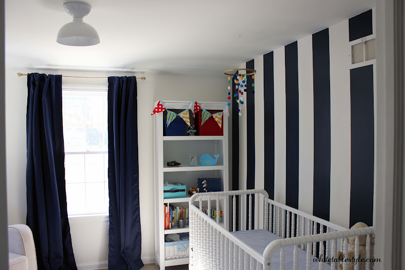 painted wall for small nursery idea