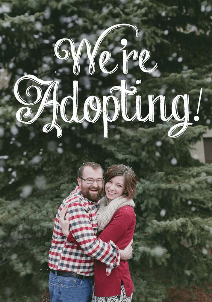 Christmas adoption announcement