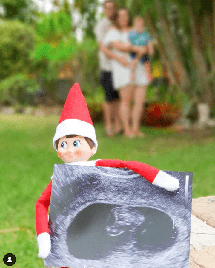 Christmas pregnancy announcement  elf