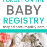 overlooked baby registry items
