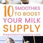 lactation smoothie collage pin image