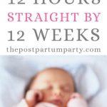 sleeping baby babywise pin image