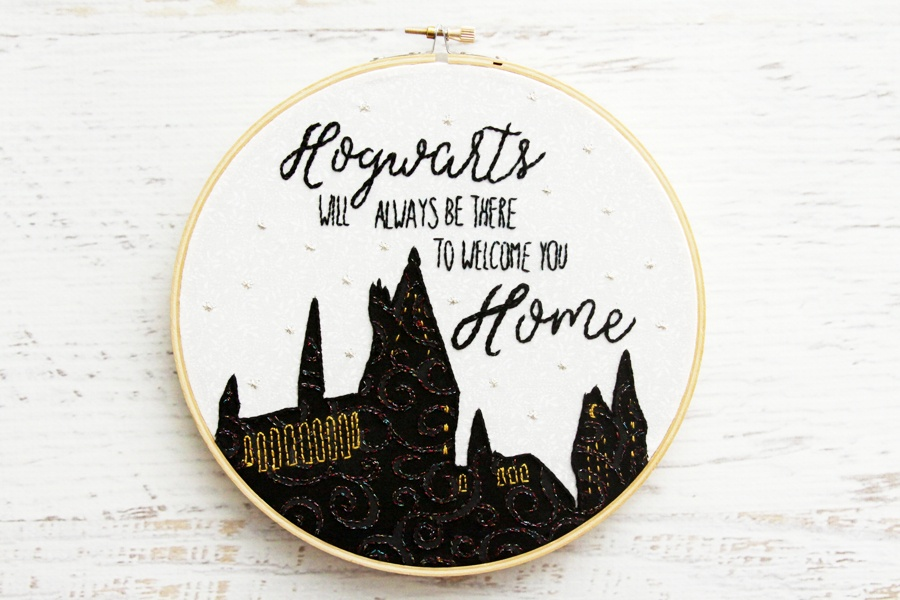 Harry potter nursery embroidery hoop art