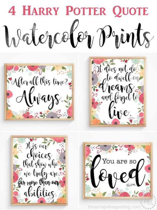 Harry Potter nursery watercolor printables