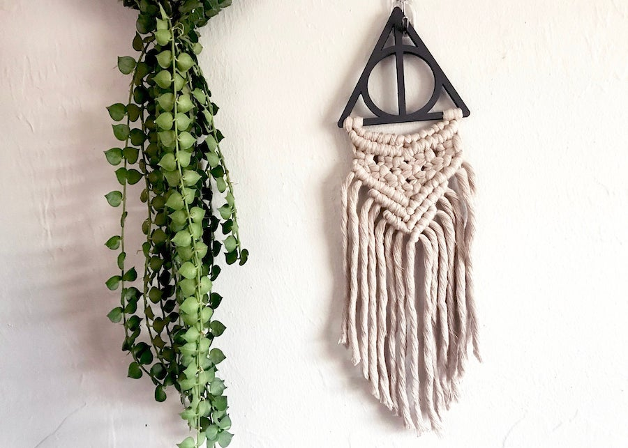 Harry Potter nursery wall macrame hanging