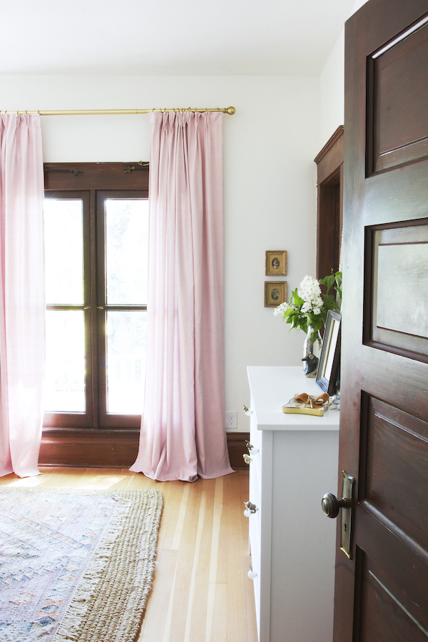 IKEA pleated curtains for nursery