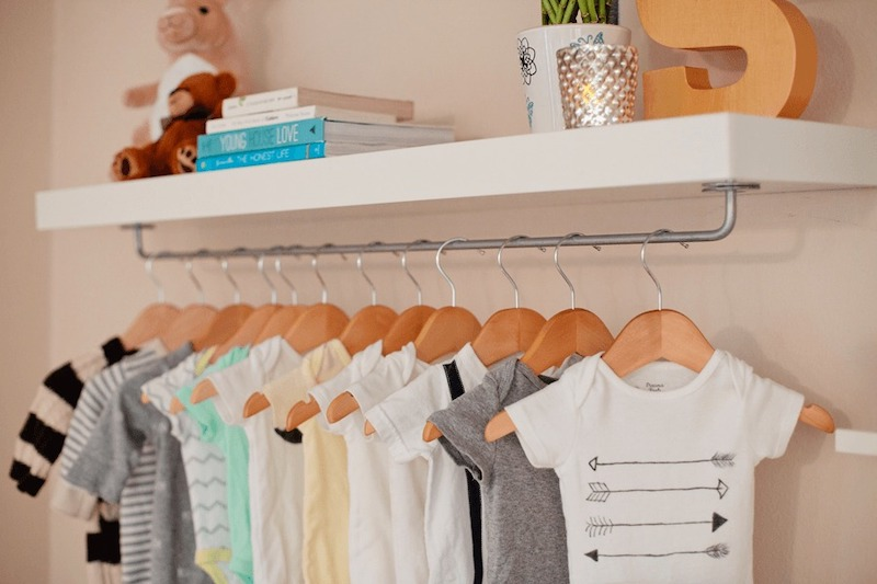 IKEA nursery wardrobe hack