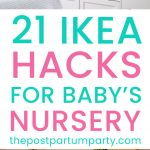 IKEA Nursery hacks pin image