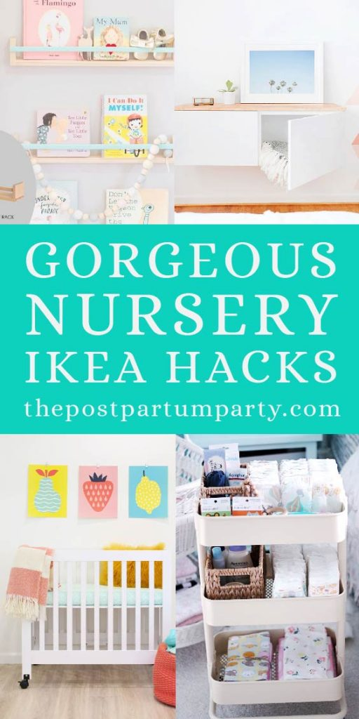 ikea nursery hacks pin collage