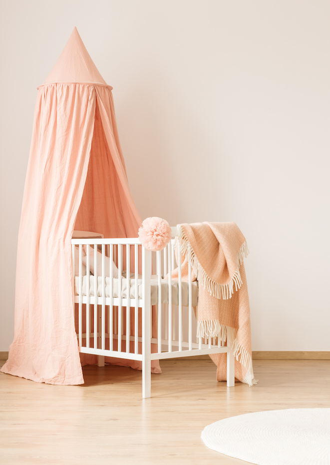Ikea Nursery Hacks - canopy over crib