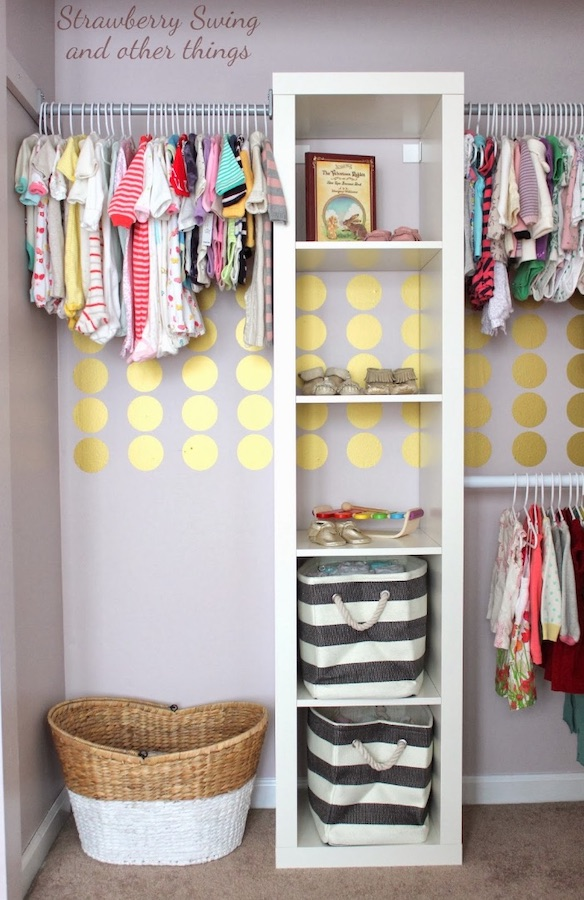 ikea nursery hack to create storage closet