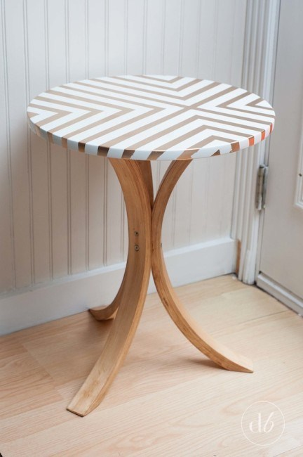 IKEA nursery hack - side table