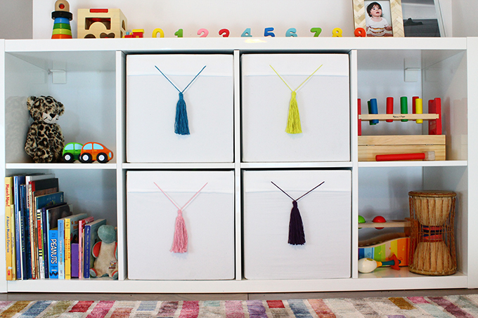 tassels for IKEA Drona boxes
