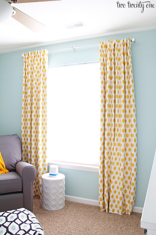 blackout curtains as part of nursery organization