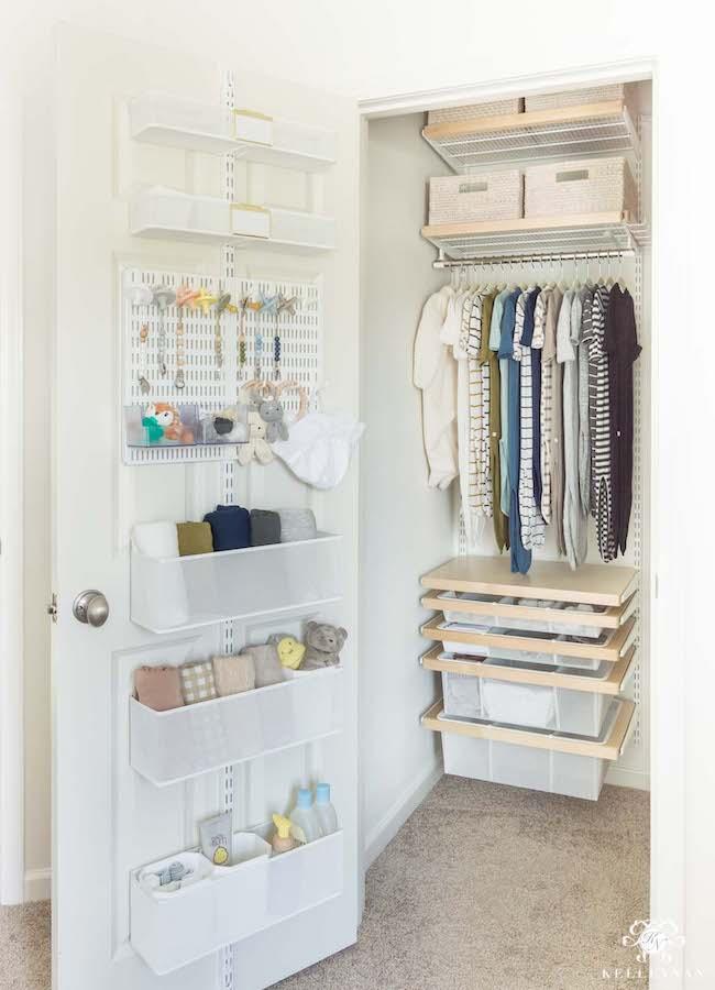 small nursery ideas - closet door