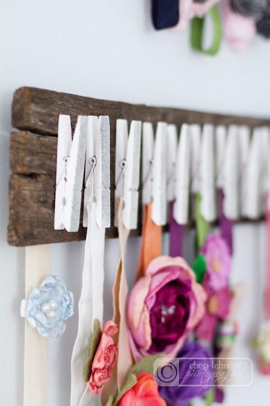 small nursery ideas - headband holder for baby girl headbands