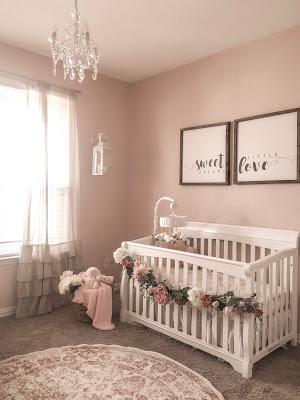small nursery ideas -hanging  chandelier