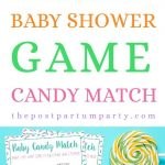 CANDY MATCH BABY SHOWER GAME