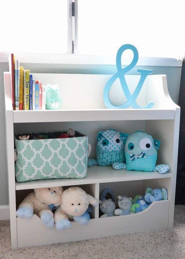 bookshelf in adventure themed nursery