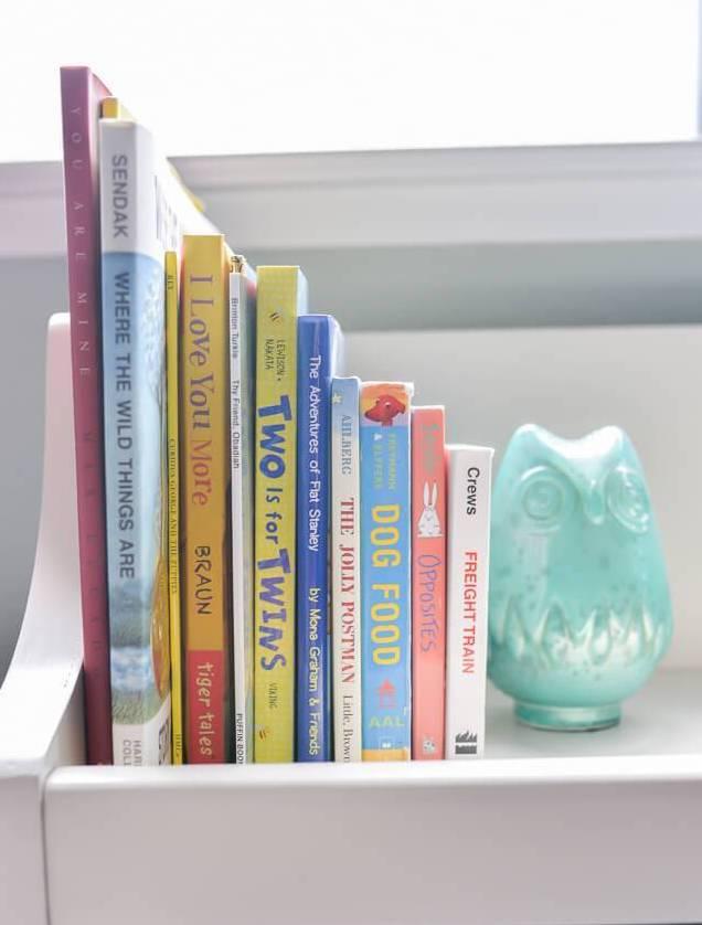 bookshelf on nursery decor