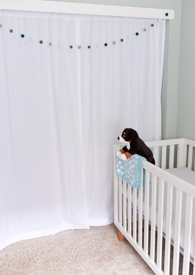 closet space in adventure themed nursery