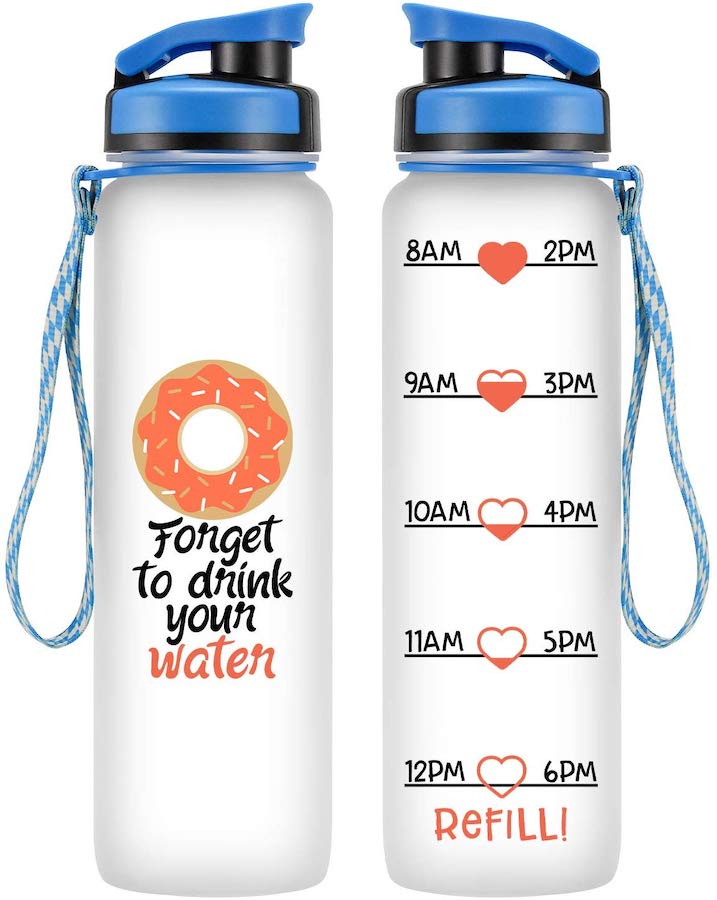 water bottle motivator - pregnancy hacks